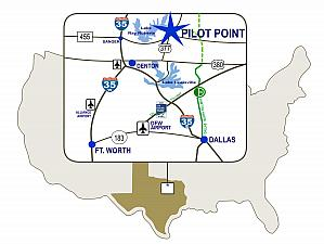 Highway map of Pilot Point
