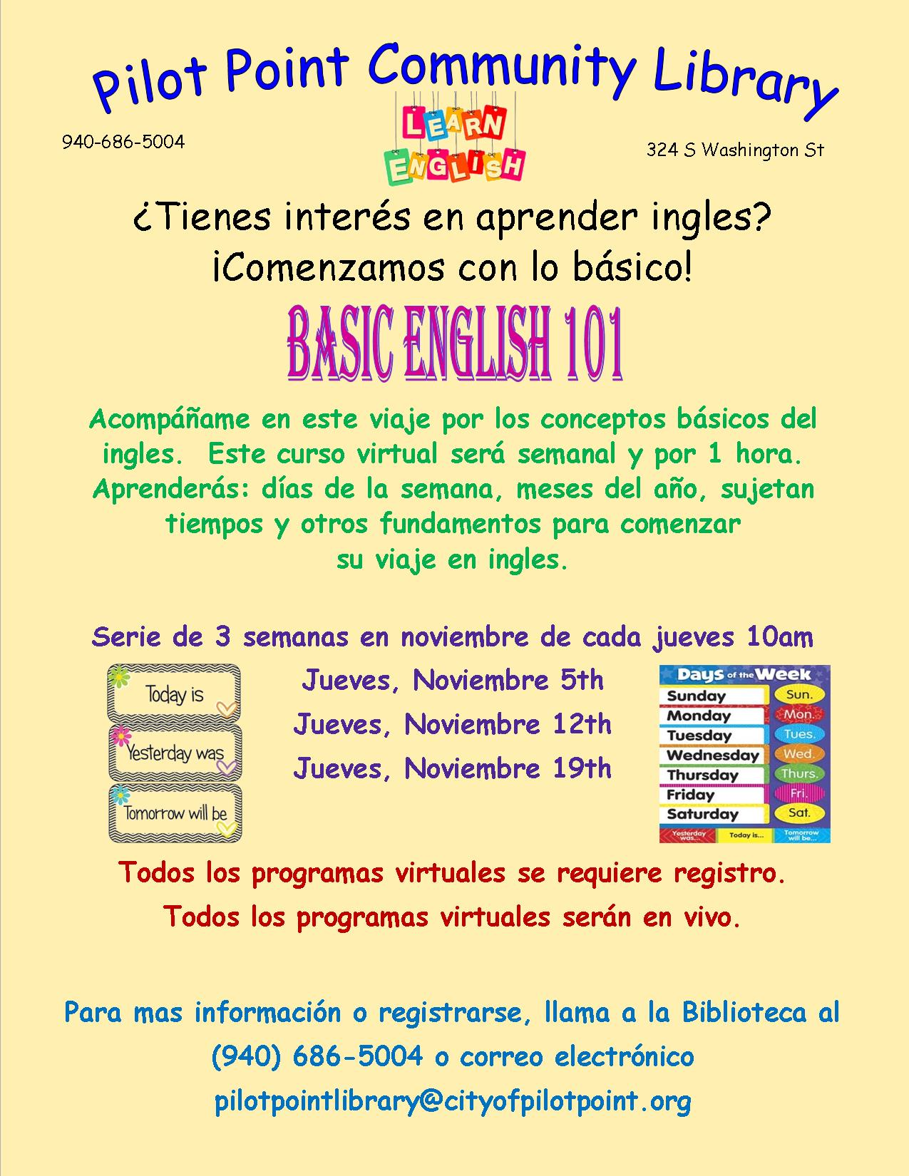 Spanish Baisc English flier